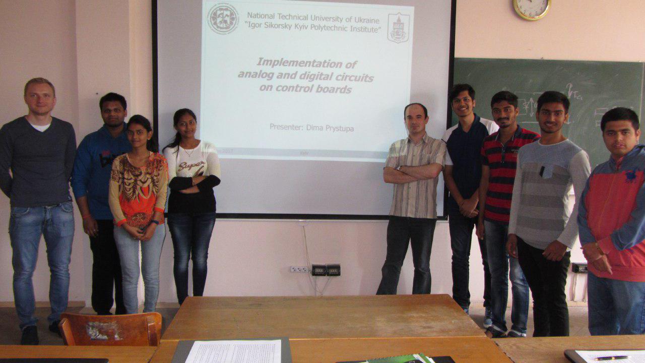 З Індії приїхали студенти практикуватися на кафедрі АЕМС-ЕП