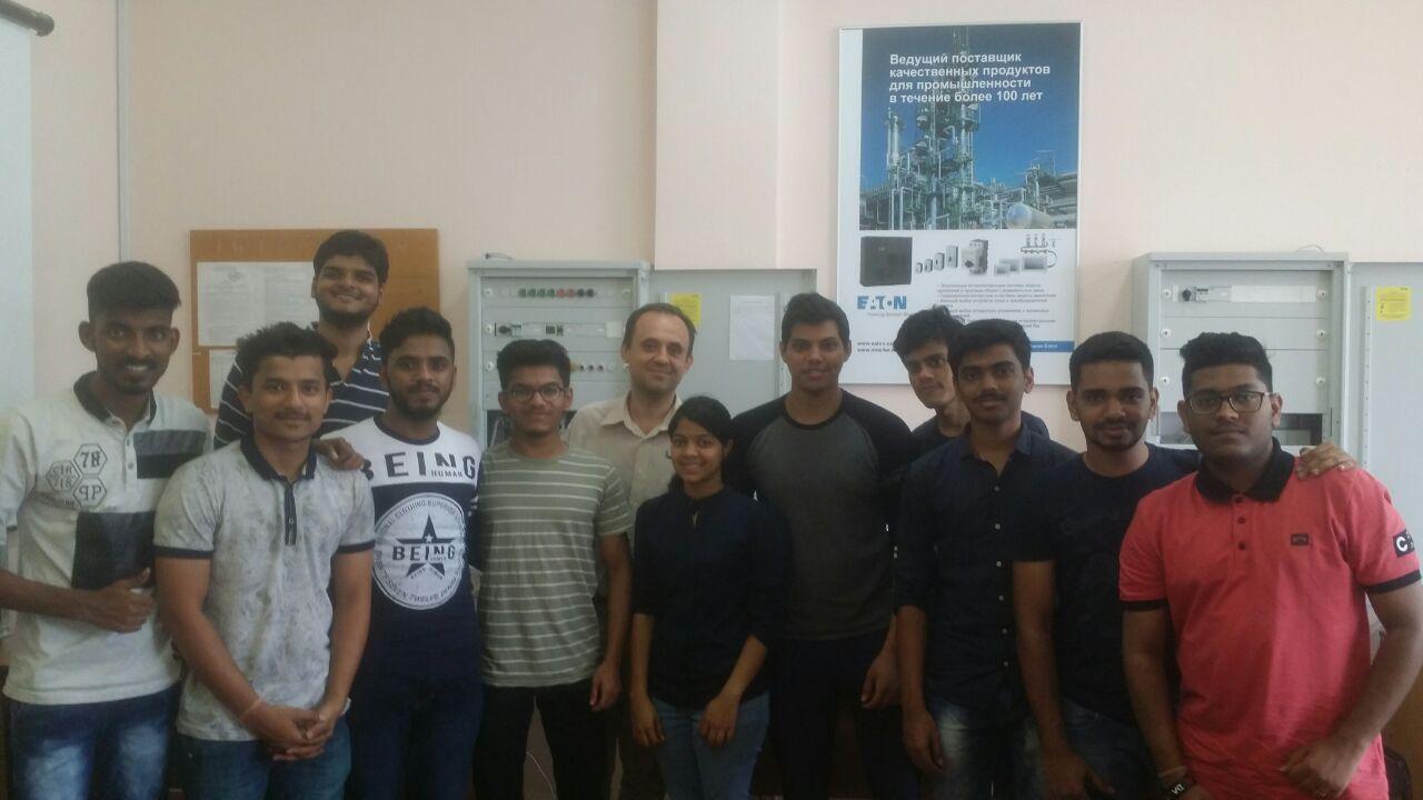 Практика студентів з Індії 2018 кафедра АЕМС-ЕП