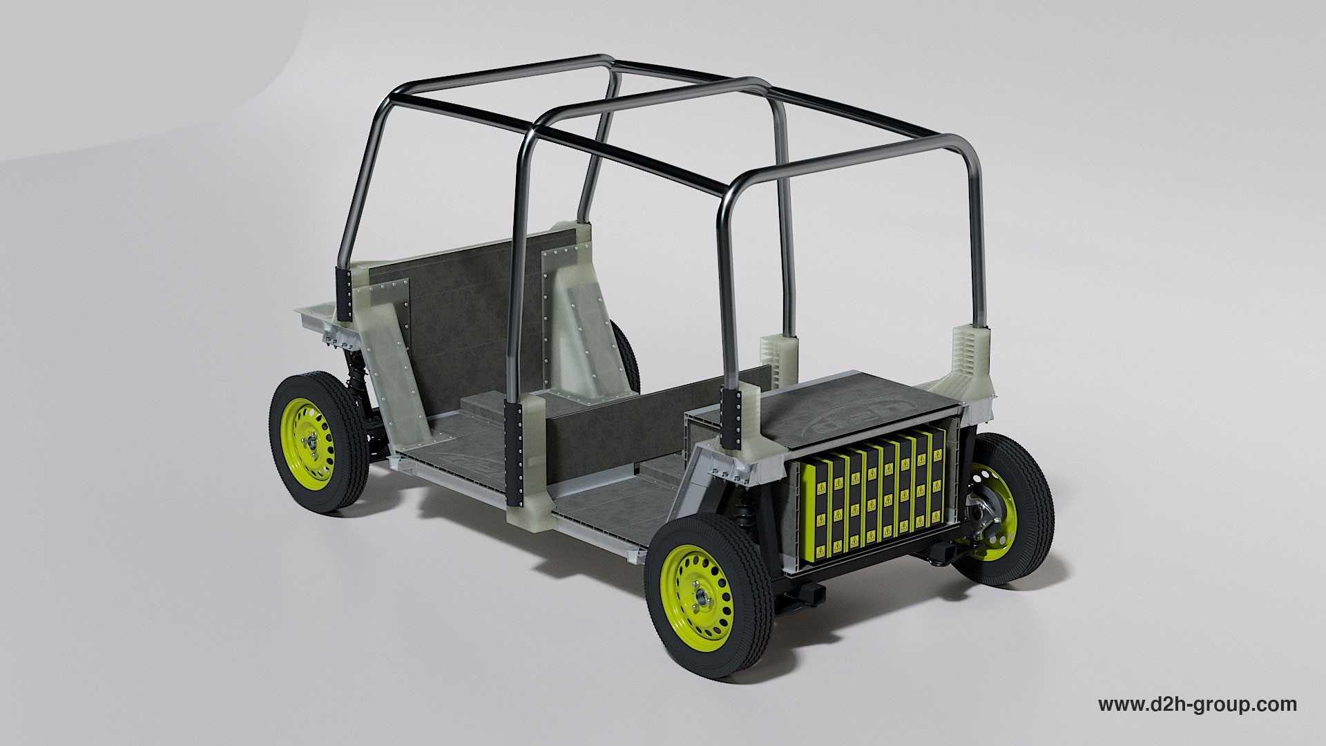 Великобританська компанія D2H лідує проектування чистого електричного, дешевого альтернативного транспортного транспорту замість tuk-tuk.